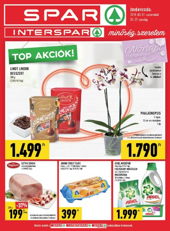 SPAR Akciós Újság 2018. 03.01-03.07-ig