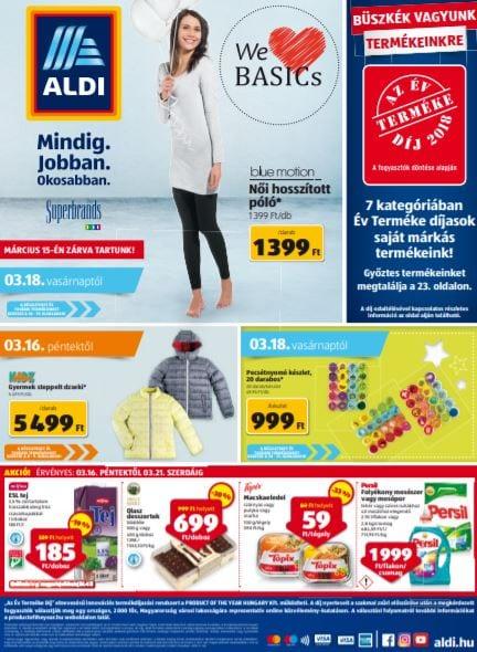 ALDI Akciós Újság 2018. 03.16-03.21-ig