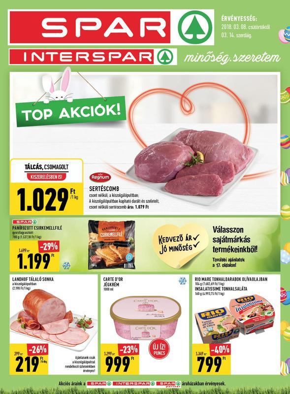 SPAR Akciós Újság 2018 03 08-03 14-ig - 01 oldal