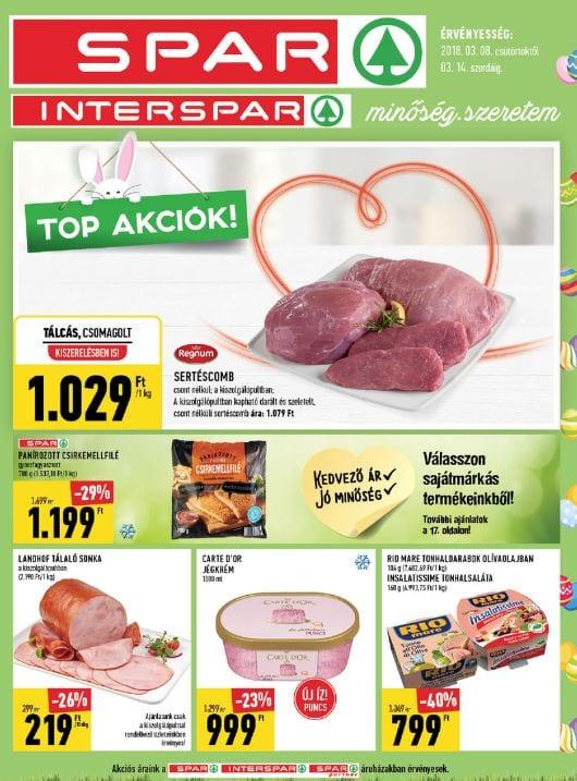 SPAR Akciós Újság 2018. 03.08-03.14-ig