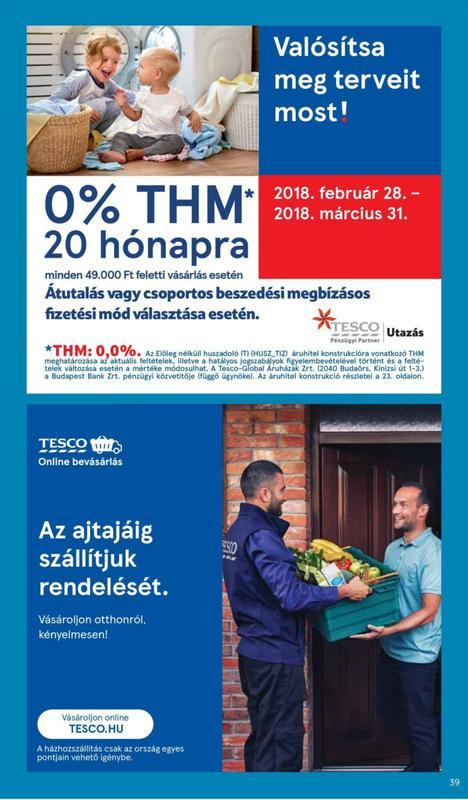 TESCO Akciós Újság 2018 03 01-03 07-ig - 39 oldal
