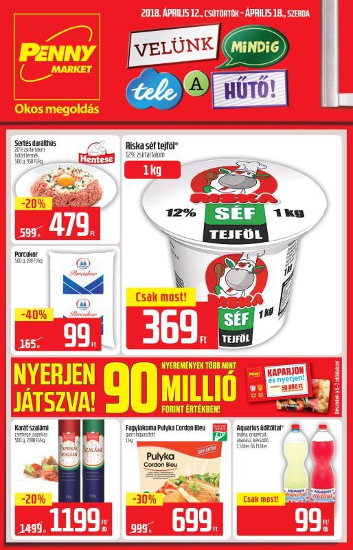 PENNY Akciós Újság 2018 04 12-04 18-ig - 01 oldal