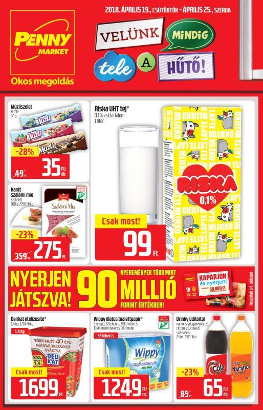 PENNY Akciós Újság 2018 04 19-04 25-ig - 01 oldal